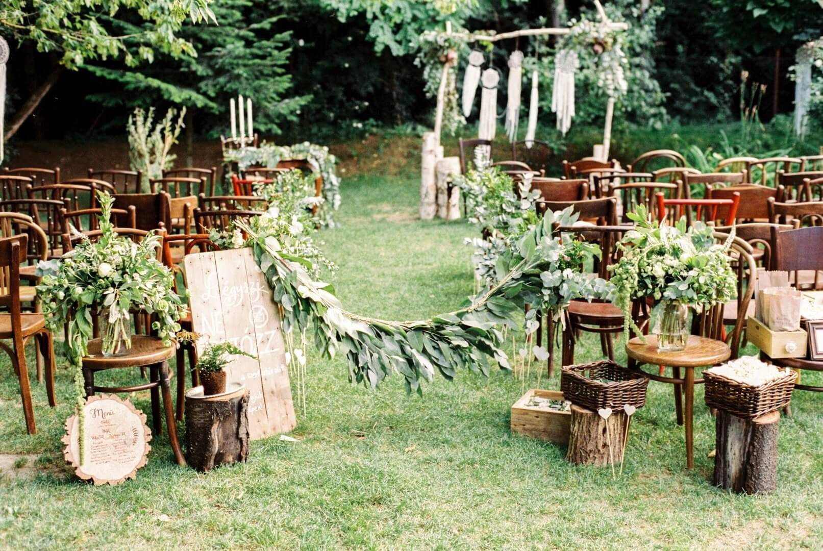 Natural Wedding Decor Vighadalom Eskvi Szolgltatk